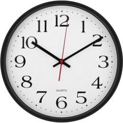 """UNIVERSAL Indoor/Outdoor Clock 13 1/2"""" Black"""