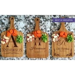 One, Two, Three, or Four Custom Wooden Serving Boards from Qualtry (Up to 56% Off)