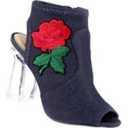 Xehar Women's Casual Floral Print Peep Toe Bootie