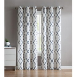 "Patterned 76""x84"" or 76""x96"" Window Curtain Panel Pair"