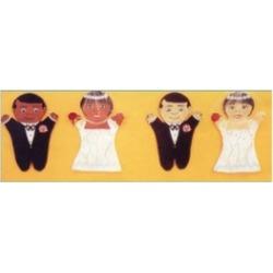 Dexter Educational Toys DEX690W Bride and Groom 2 Piece Puppet Set