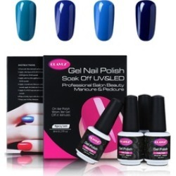 4pcs Soak Of Gel Nail Polish Blue Colors Collection Nail Art Gift Sets found on MODAPINS from groupon for USD $9.49