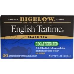 Bigelow Tea Decaf English Time Tea Bags, 20 Ct (Pack of 6)