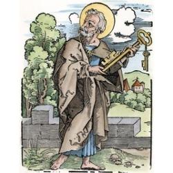 Saint Peter (C. 67 A.D.). Nwoodcut By Hans Sebald Beham C1530. Poster Print by