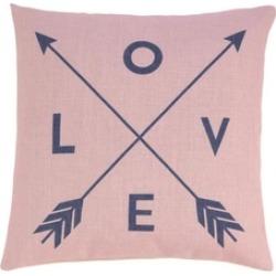Pretty Pink Love Arrows Design Decorative Throw Toss Pillow