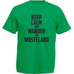 Dyong Keep Calm and Wander the Wasteland, Printed Adult Tee