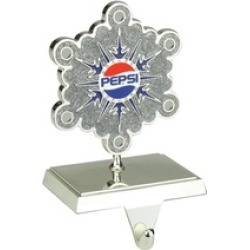 Silver Pepsi Snowflake Christmas Stocking Holder European Crystals