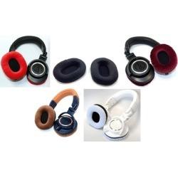 Black velvet earpads for ATH-M50x headphones