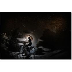 Antonio Grambone 'Pedaling By Bicycle.' Canvas Art