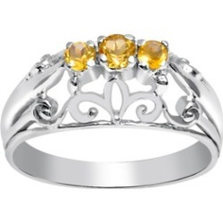 Orchid Jewelry 925 Sterling Silver 0.22 Carat Citrine Ring