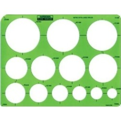 Rapidesign 2440R Metric Extra Large Circles Template