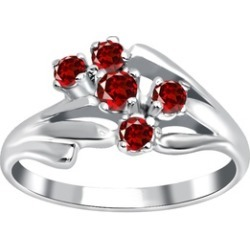 Orchid Jewelry 925 Sterling Silver 0.45 Carat Garnet Ring