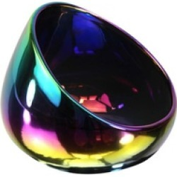 Iridescent Ceramic Boom Bowl Cell Phone Sound Amplifier Black or White