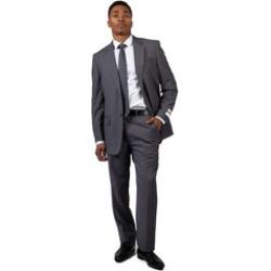 Light Blue-Grey Pinstripe Mondo Uomo Men's Suit Model 1102