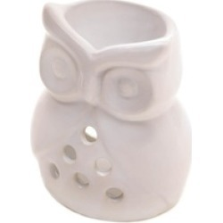 Charming Ceramic White Owl Fragrance Owl Warmer uses Tealight Candle