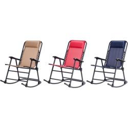Costway Folding Zero Gravity Patio Rocking Chair