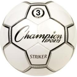 Champion Sports STRIKER3 Striker Soccer Ball, Black & White - Size 3