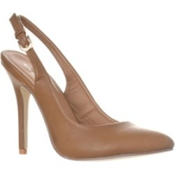 Riverberry 'Lucy' Pointed-Toe Sling Back Pump Heels, Khaki PU