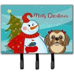 Carolines Treasures BB1869TH68 Snowman With Chocolate Brown Shih Tzu Leash