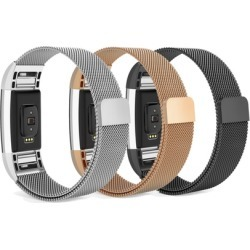 Fitbit Charge 2 Bands, Milanese Loop Stainless Steel Strap