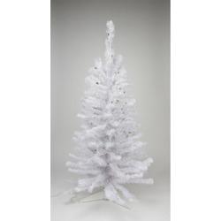 2' White Iridescent Pine Artificial Christmas Tree - Green Lights