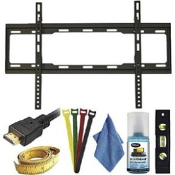 Xtreme 7pc Ultra Slim Fixed TV Wall Mount Kit For Tvs 37-70 Inches