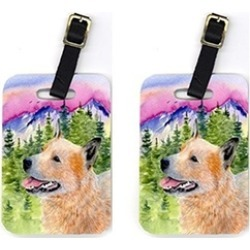 Carolines Treasures SS8335BT Pair of 2 Australian Cattle Dog Luggage Tags