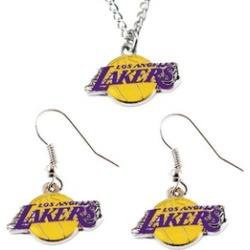 Sports Team Logo Necklace and Dangle Earring Charm Set NBA