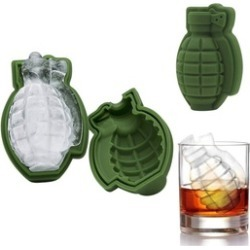 2Pack 3D Grenade Whisky Cocktail Ice Cube Mold Maker Silicone Tray Bar