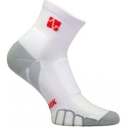 Vitalsox VT 0710 Mountain Bike Quarter Running Socks, White-Silver