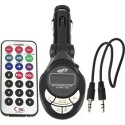 MP3 Player Wireless Transmitter with 206 FM Channels for Car