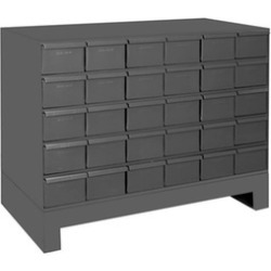 Durham 024-95 12.25 in. Steel 30 Drawer Cabinet for Small Part Storage Gray