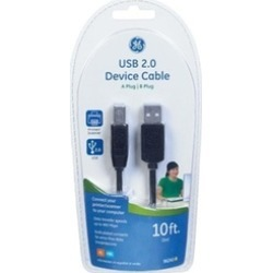 GE 3389855 10 ft. USB Device Cable Black found on Bargain Bro India from groupon for $22.26