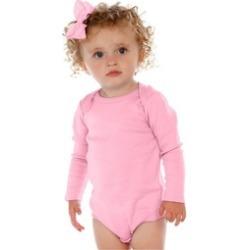 Plain Color Unisex Infants Lap Shoulder Long Sleeve Onesie