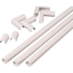 Wiremold 6699904 White Cord Channel Kit