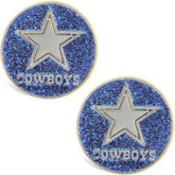 Sports Team Logo Glitter Sparkle Post Stud Logo Earring Set Charm Gift