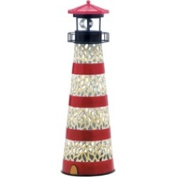 Fantastic Coral Like Cutout Design Metal Solar Lighthouse