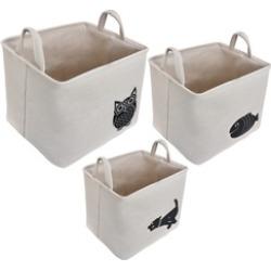 Collapsible Storage Baskets Linen Bin with Handles Toy Organizer