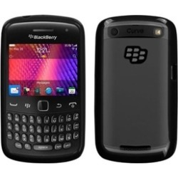 Insten Clear/Solid Black Case Cover For BLACKBERRY9360 9350 9370