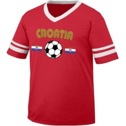 FRANC Croatia Soccer / Football and Flag Retro Soccer Adult Tee