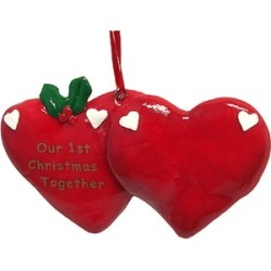 "24 ""Our 1st Christmas Together"" Christmas Ornaments To Personalize"