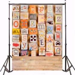 3x5ft Alphabet Picture Board Children Photography Vinyl Background