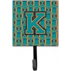 Carolines Treasures CJ1063-KSH4 Letter K Football Aqua Orange & Marine Blue Leas