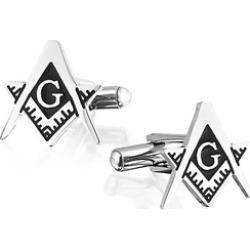 Bling Jewelry Mens Black Stainless Steel Cufflinks Freemason Jewelry