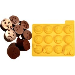 Reusable 12 Different Emoji Ice Cube Tray Silicone Mold