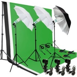 Umbrella Lighting Photography With Backdrop Stand Kit