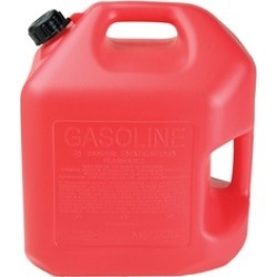 Midwest Can 5600 Poly Gasoline Can w/Spill Proof Spout, Red, 5-Gallon