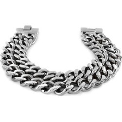 Stainless Steel Dual Band Men's Chain Bracelet found on MODAPINS from groupon for USD $35.45