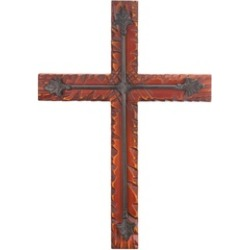 Beautifully Wood Iron Wall Cross