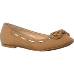 Riverberry Women's 'Milap' Bow Accent Round Toe Flats, Taupe